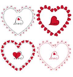 love heart frames clipart vector image