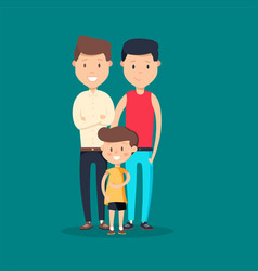 lovely flat design on gay vector image