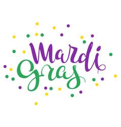 Mardi gras handwritten calligraphy lettering text vector