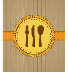 Menu cover with kithchen icons vector