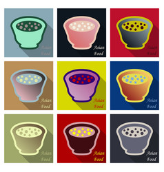 miso soup japanese food graphic object top view vector image