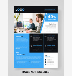 Modern brochure template design for your corporate vector