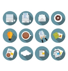 Modern Flat Design Icon Set for your Business vector image