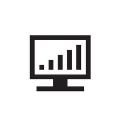 monitor and exchange growth up graphic - black vector image