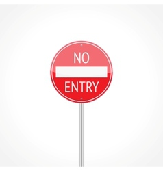 No entry traffic sign vector image