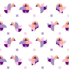 pattern of geometric chicks vector image