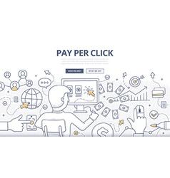 Pay Per Click Doodle Concept vector