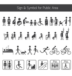 People Pictogram Signs and Symbols for Public Area vector