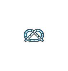 pretzel icon design gastronomy icon vector image