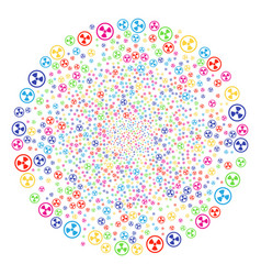 radioactive fireworks round cluster vector image