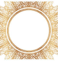 Round floral border frame silhouette vector