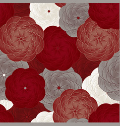 seamless flower pattern beautiful floral vector image
