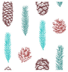 Seamless pattern with cones vector