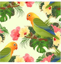seamless texture parrot lovebird agapornis vector image