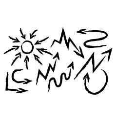 Set arrows drawn vector