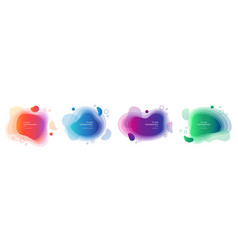 set isolated fluid blobs with gradient color vector image