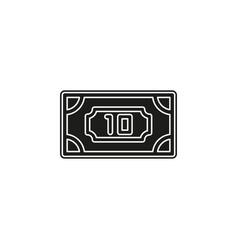 simple money icon vector image