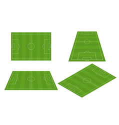 soccer field in different perspectives soccer vector image