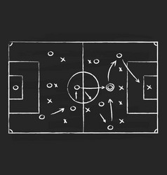 Soccer tactic on board football strategy vector