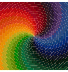 Spectrum wheel made of bricks Rainbow color vector