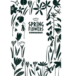 spring flowers design template scandinavian vector image