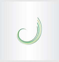 Spring green wave design element vector