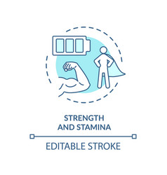 Strength and stamina turquoise concept icon vector