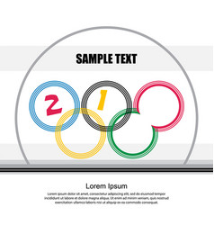 stylized sports background vector image