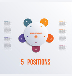 template flower colorful infographics 5 positions vector image