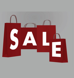 text sale on paper bags vector image