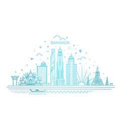 Thailand and attractions to bangkok landmarks vector