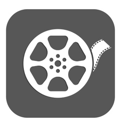The video icon Movie symbol Flat vector image