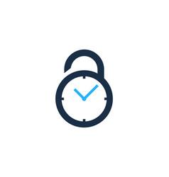 time security logo icon design vector image