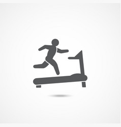 treadmill icon vector image