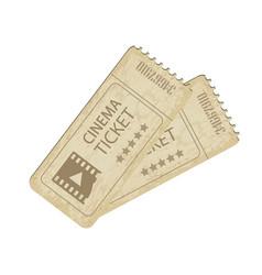 two vintage cinema tickets vector image