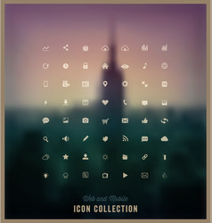 web and mobile icon collection vector image