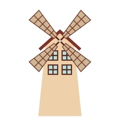 windmill farm isolated icon design vector image