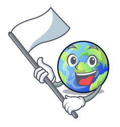 with flag earth isolated with in the cartoons vector image