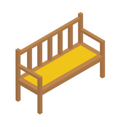 Wooden bench vector