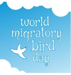 world migratory bird day poster vector image