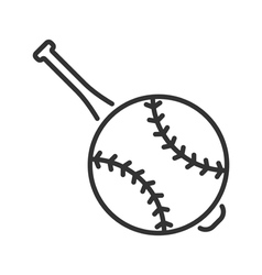 Baseball line icon vector image