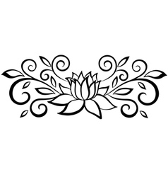 black and white abstract flower vector image vector image