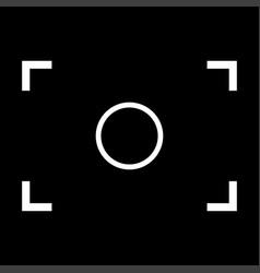 Camera focus white color icon vector
