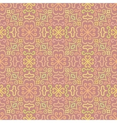Colorful graphic flower pattern on pink background vector image vector image