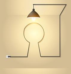 Creative keyhole with light bulb idea vector