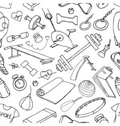 Doodle pattern set of sport vector image