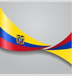 ecuadorian wavy flag vector image vector image