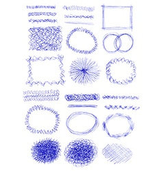 Set of grunge brushes abstract textures hand drawn vector image