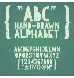 Blackboard chalkboard Chalk hand draw doodle abc vector image
