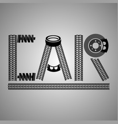 car lettering image vector image vector image